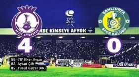 Afjet Afyonspor-Şanlıurfaspor: 4-0
