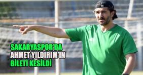 Sakaryaspor Teknik Direktör Ahmet Yıldırım ile yolları ayırdı