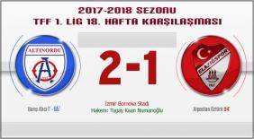 Altınordu-Elazığspor: 2-1