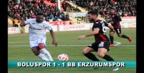 Boluspor-Erzurumspor: 1-1