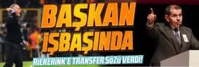Dursun Özbek Florya'ya gitti morel ve transfer sözü verdi