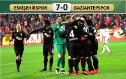 Eskişehirspor-Gaziantepspor: 7-0