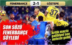 Fenerbahçe-Göztepe: 2-1