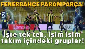 Fenerbahçe paramparça gruplaşmalar var