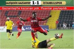 Gazişehir Gaziantep-İstanbulspor: 1-1