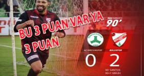 Giresunspor-Boluspor: 0-2