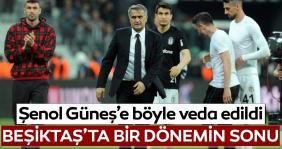 Şenol Güneş Beşiktaş'ta galibiyetle veda etti