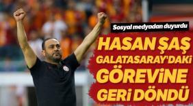 Hasan Şaş yeniden Galatasaray'da
