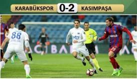 Karabükspor-Kasımpaşa: 0-2
