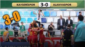 Kayserispor-Alanyaspor: 3-0