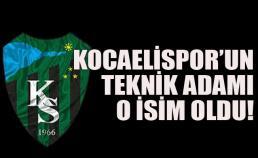 Kocaelispor'da yeni teknik direktör belli oldu