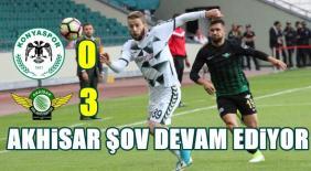 Atiker Konyaspor-Akhisar Belediyespor: 0-3
