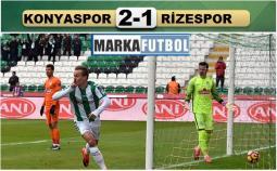 Atiker Konyaspor-Çaykur Rizespor: 2-1
