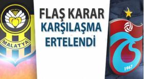 Malatya-Trabzon maçı ertelendi