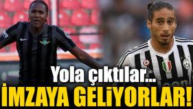 Hugo Rodallega ve Martin Caceres Trabzonspor'da