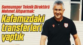 Samsunspor'da Mehmet Altıparmak rotayı çizdi