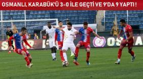 Osmanlıspor-K.Karabükspor: 3-0