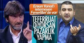 Rıdvan Dilmen ve Ümit Özat Ersun Yanal'a fena çaktı