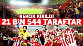 Samsun'da seyirci rekoru kırıldı