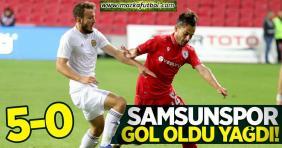 Samsunspor, Tarsus İdman Yurdu'nu ezdi geçti: 5-0