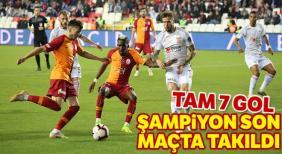 Şampiyon Galatasaray, Sivas'da dağıldı