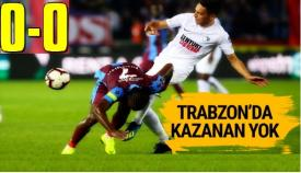 Trabzonspor-Erzurumspor: 0-0