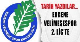 Ergene Velimeşespor 2.Lig'de